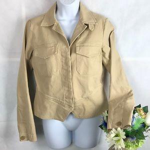 Cabi Jacket Tan Chamois 892 Cotton Blazer Sz S